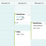 Kliknutie z kalendára na detail zákazníka